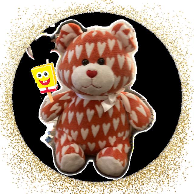 #Teddy bear with SpongeBob ice cream