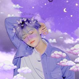 jaemin nctjaemin nct nct127 nctu nctdream kpop blue purple aesthetic glitter star