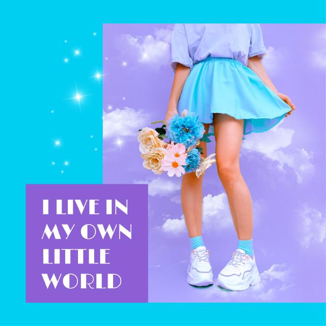 I live in my own little world 🌏 #pastel #パステル #kawaii #可愛い #cloud #雲 #picsart #picsartjapan