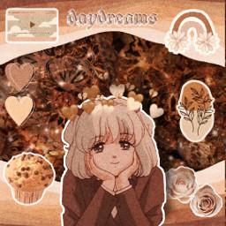 brown brownedit brownaesthetic brownaesthetics animegirl animeedit freetoedit