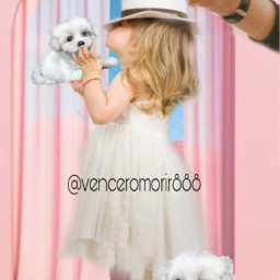 girl hat puppies dogs pets ircreachinghands reachinghands freetoedit