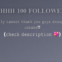 thankyou 100followers freetoedit