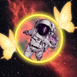 freetoedit astronaut space flower mariposa astronauta circle circulo espacio españa mundo earth srcneonbutterflycircle neonbutterflycircle
