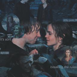 ronmione hermionegranger ronaldweasley deathlyhallowspart2 deathlyhallows freetoedit