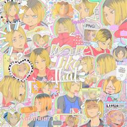 stqrsoul_1colorchallenge kenmakozume kenma haikyuu anime complexedit overlays yellow