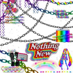 rainbow chains miku freetoedit