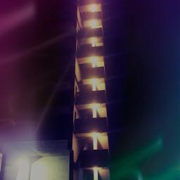 freetoedit nightshot night lights neighborhood stairs bynight nightwalk building skyscraper picturbyme picsart