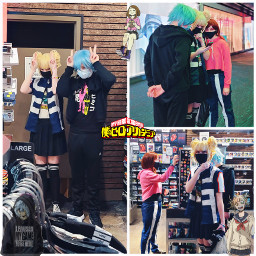 himikotoga tomurashigaraki ochakouraraka cosplay public mall shopping cosplaying cosplayers publiccosplay weeblet101 anime yeet wooooo freetoedit