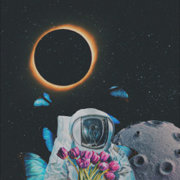 space astronaut vision edits anjalimittal flowers freetoedit