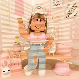 bunny fypp bloxburg roleplay cute aesthetic frame freetoedit