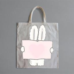bunny cute heart book totebag ircdesignthetotebag designthetotebag freetoedit