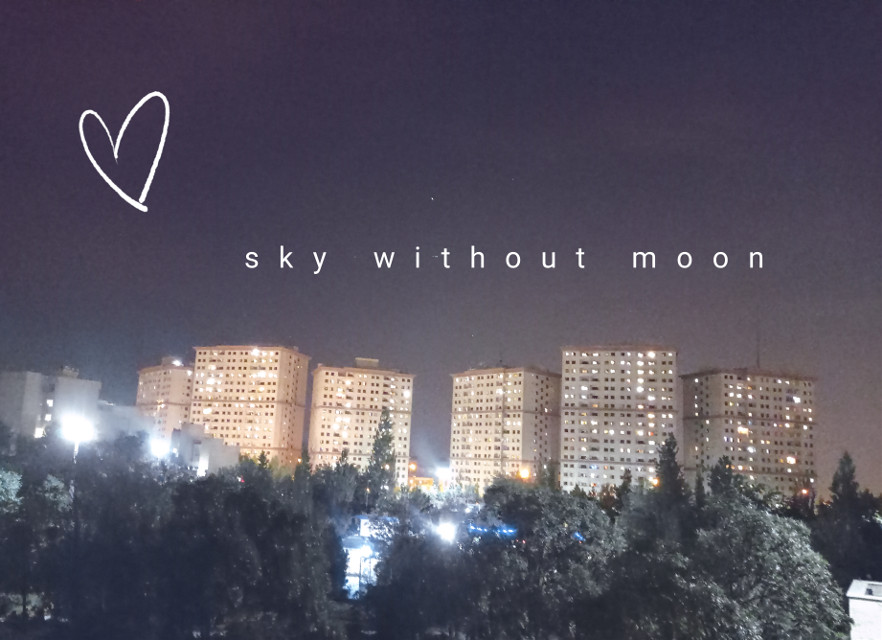 #picsart #photography #town #sky #without #moon sky lost the moon  where is the moon?  comeback my shiny moon 🌙💜