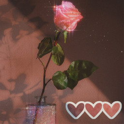 rose love heart glitter pink brown romantic aesthetic ecdreamstickersbackground dreamstickersbackground freetoedit