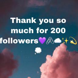 200followers thankyou iloveyou