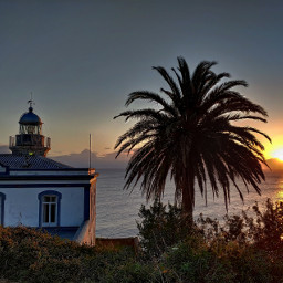 asturias hdr sunrise photography lighthouse sea sky