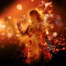 darkart fantasy firegirl