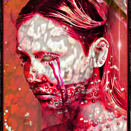 soulcrusherb abstractually betelgeusewinters remix teamwork collaboration bleeditout woman lady darkart freetoedit
