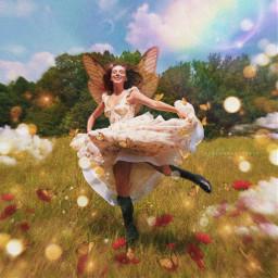 milliebobbybrown fairycore fairy fantasy heaven heavenly garden summer summertime softie softaesthetic cottagecore cottage luamaral luamaralstudio freetoedit