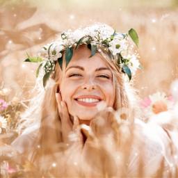 picsart woman flower freetoedit