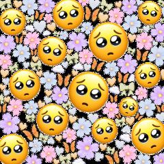 pastel emojis pastelemojis background emojibackground pastelemojibackground pink blue purple green mintgreen yellow orange light lightcolors flowers butterflies butterfly cloud clouds heart hearts bow bows freetoedit
