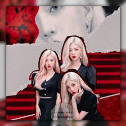 kpop loona loonakimlip kimlip kimlipllona kimlipedit kpopgirl kpopgirlgroup red black aesthetic graphicedit notfreetoedit freetoedit