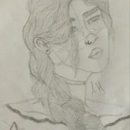 art drawing girl enimes enimestolovers sketch darkacademia