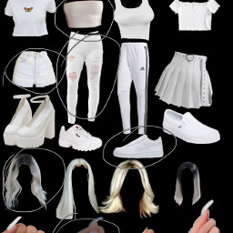 outfit white freetoedit