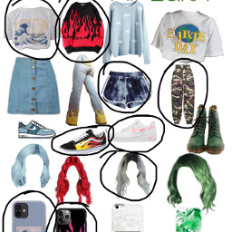 outfit water fire air earth element freetoedit