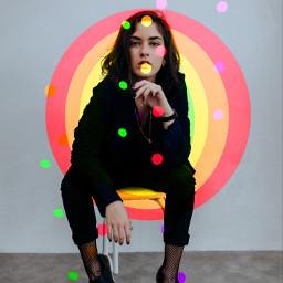 fanartofkai picsart rainbow colorful girl
