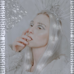 challenge girl makeup grey gray silver words text border faded fade blur blurry aesthetic light stars neon glitter shine shiney crown gems jewels eyebrows triangle rctrendyvibes trendyvibes freetoedit