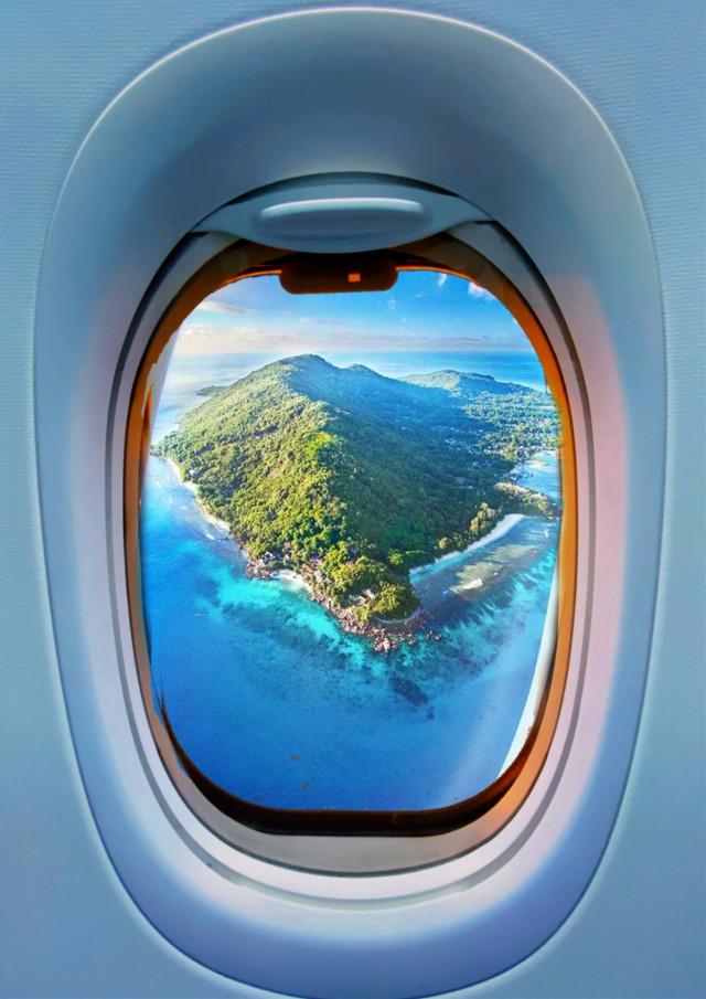 #window #airplane #freetoedit #picsart