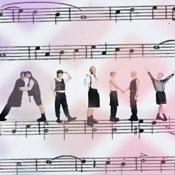 armylovebts freetoedit srcmusicalnotes musicalnotes