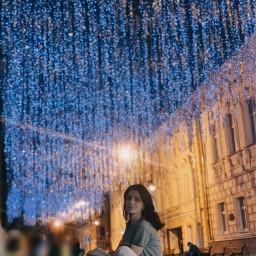 urban night lights street freetoedit