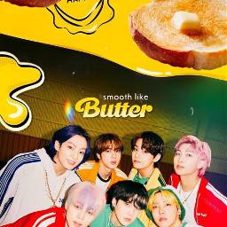 freetoedit butter army bts btsrm btsjin btssuga btsjhope btsjimin btsv btsjungkook