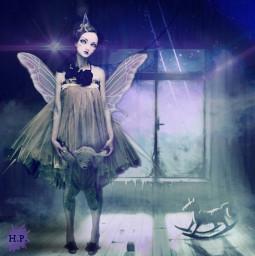 butterflywings editingchallenge madewithpicsart fantasy fairy darkfairy imagination girl wings attic haunted picsarteffects purple ecbutterflywings freetoedit