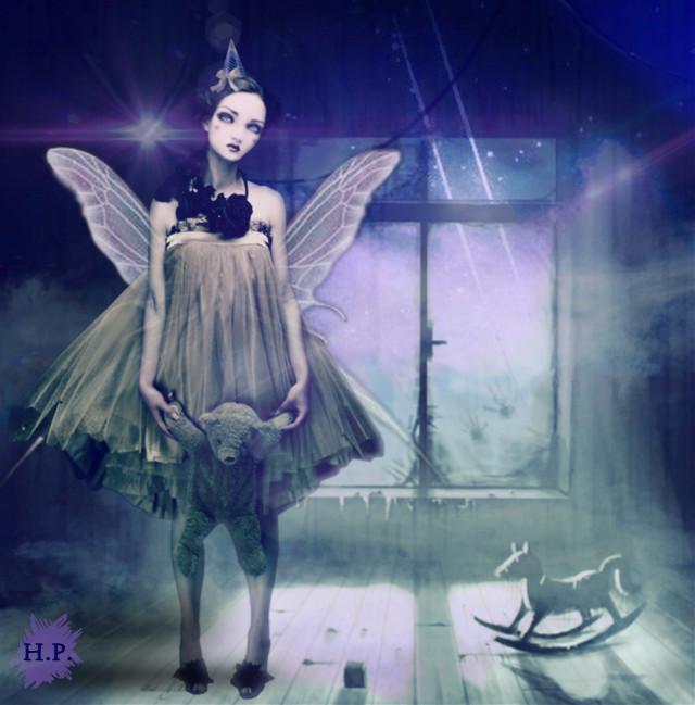 #butterflywings #editingchallenge #madewithpicsart #fantasy #fairy #darkfairy #imagination #girl #wings #attic #haunted #picsarteffects #purple #ecbutterflywings #freetoedit remixed from @scribblehands
