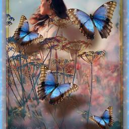 freetoedit shoutout tagme fantasy flowers butterflies meadow landscape
