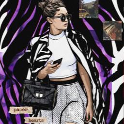 gigihadid pattern purpleasethetic zebra haddi freetoedit