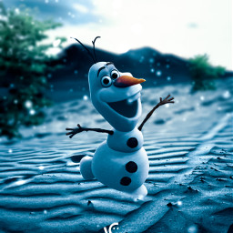 followmeplease snowman snowfall nature cold ice tree blur madewithpicsart picoftheday followme freetoedit