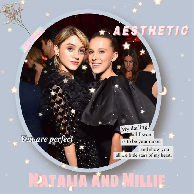 Natalia and Millie 💖 #nataliadyer #milliebobbybrown
