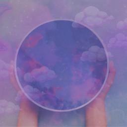 purple aesthetic galaxy clouds stars purpleaesthetic