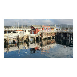 monterey wharf pier bay reflection