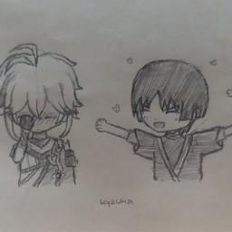 kazuha scaramouche genshinimpact kazuhagenshinimpact scaramouchegenshinimpact kazuscara scarakazu anime animeboy animedrawing drawing