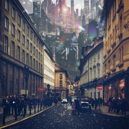 city planet galaxy space asthetic glitter interesting art freetoedit