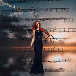 noten geige women music srcmusicalnotes musicalnotes freetoedit
