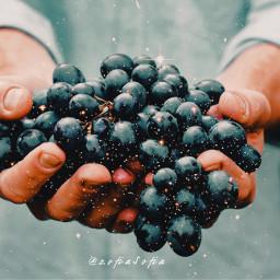 yummy black blue freetoedit