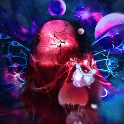 mastershoutout space galaxy galactic surreal universe dreamy blank blankface magic aesthetic colors nebula sky cracks dream imagination photomanipulation wings fairy picsart heypicsart madewithpicsart papicks voteplease ecbutterflywings freetoedit