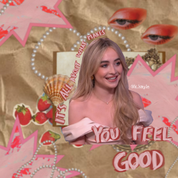 freetoedit collage collageart edit sabrina pink strawberry aesthetic noise collageedit paper overlay complex sabrinacarpenter pearl blur picsart vintage retro
