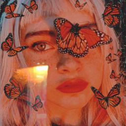 freetoedit girl butterfly