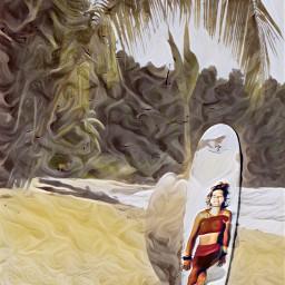 girl beach ircsurfsup surfsup freetoedit